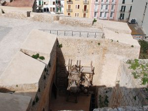 The casemate in the Sant Pere bulwark, from the top.