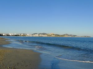 Platja d'en Bossa is the island's longest sand beach