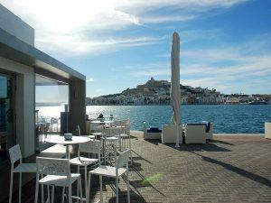 Calma restaurant is in Ibiza's marina