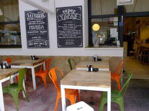 The Sa Brisa restaurant has two terraces